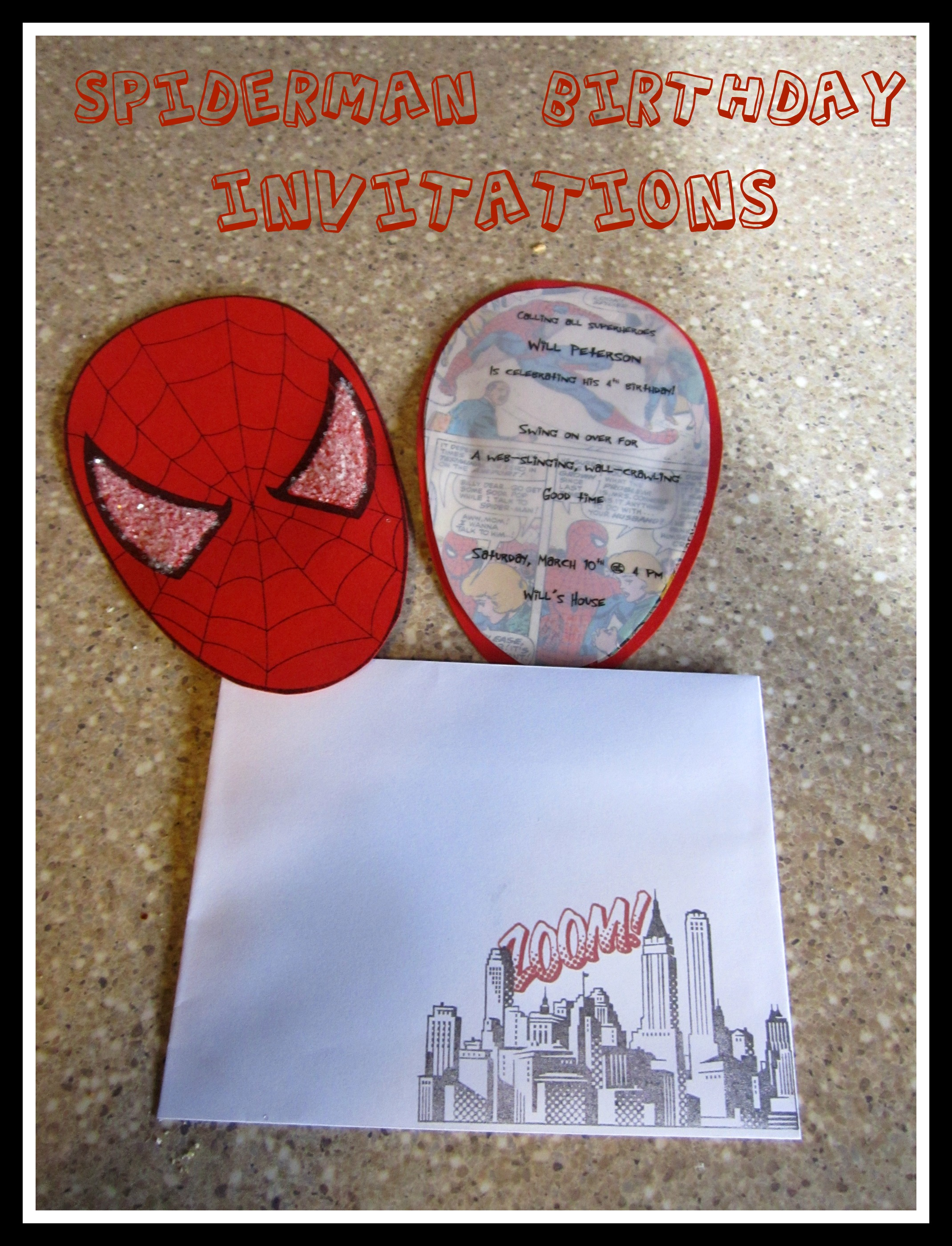 Spiderman birthday party part 1 invitations tidbit times now that the madness of wills spiderman 4th birthday party is over i can finally take some time to post some of the fun i had planning his party stopboris Images