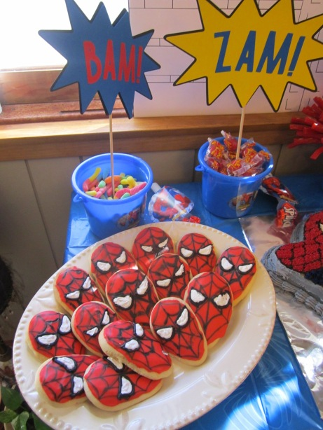 Spiderman Birthday Party Part 3 Cake And Cookies