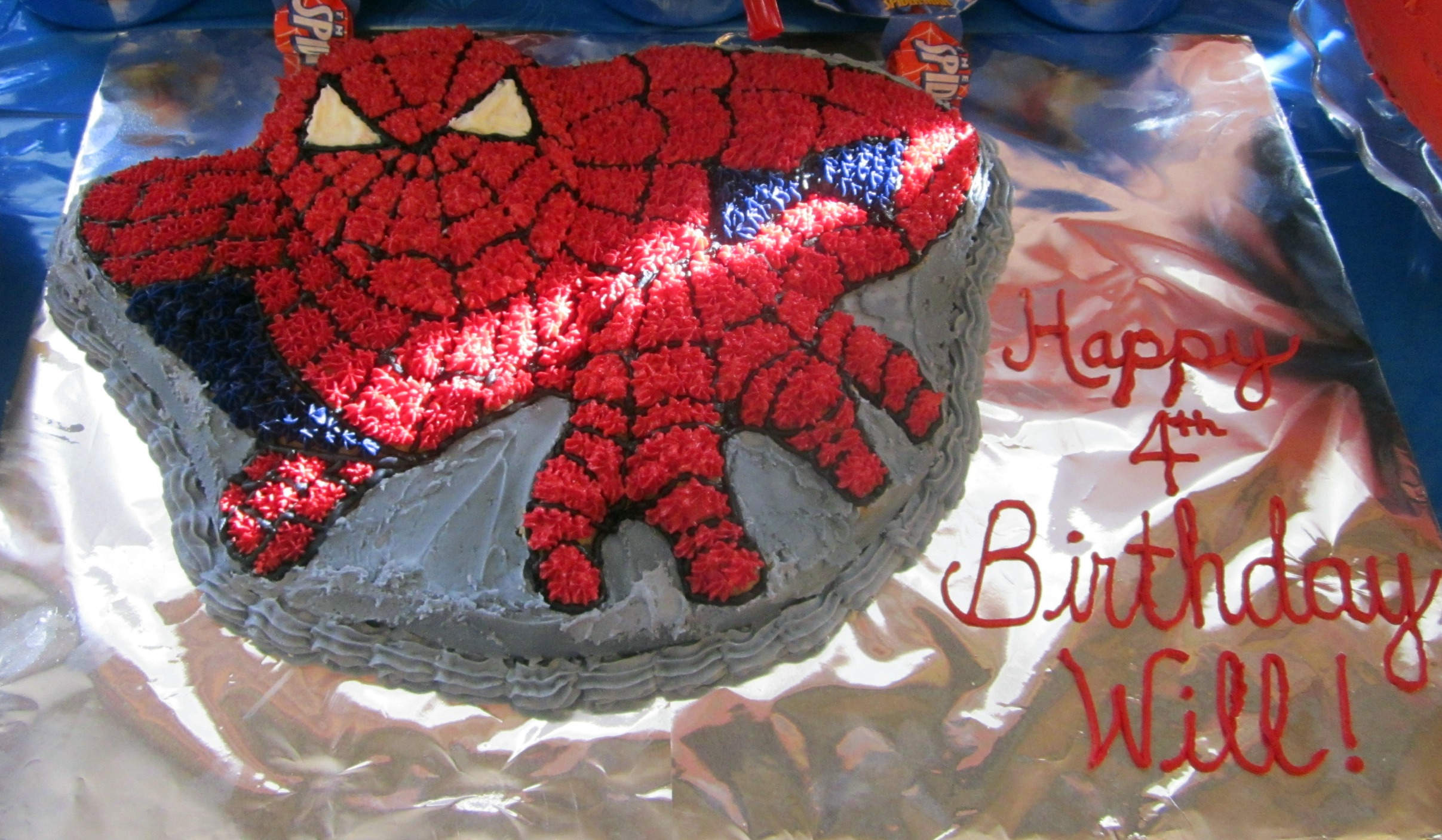 spiderman cake pan instructions