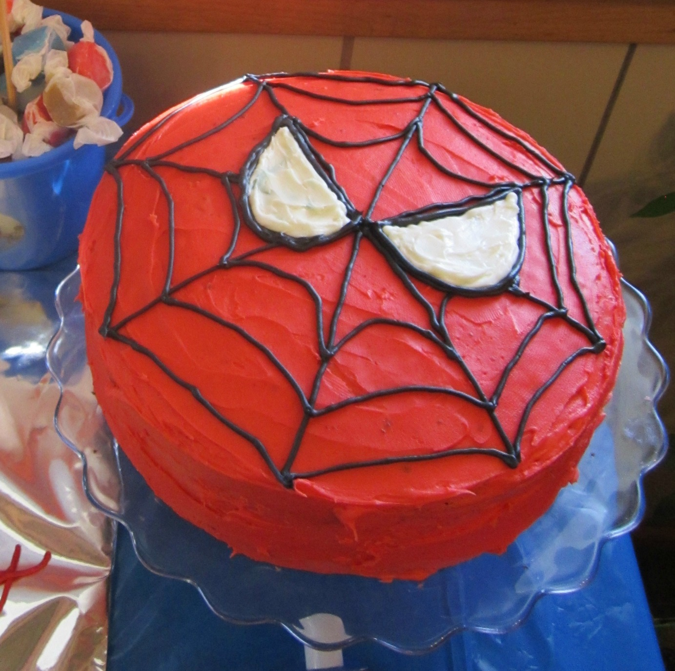How To Make A Spiderman Face Cake