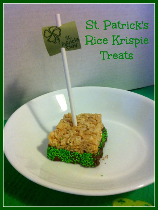 St. Pats Rice Krispie Treats