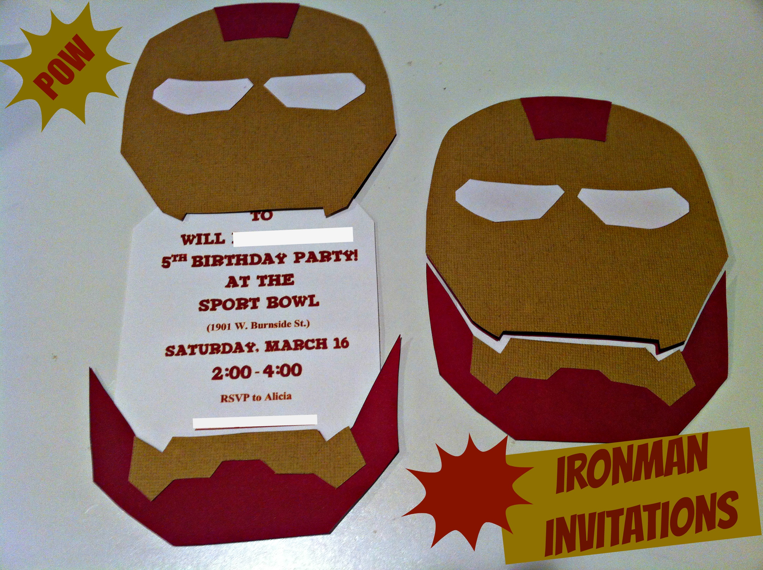 Ironman Birthday Party Part 1 Invitations Tidbit Times