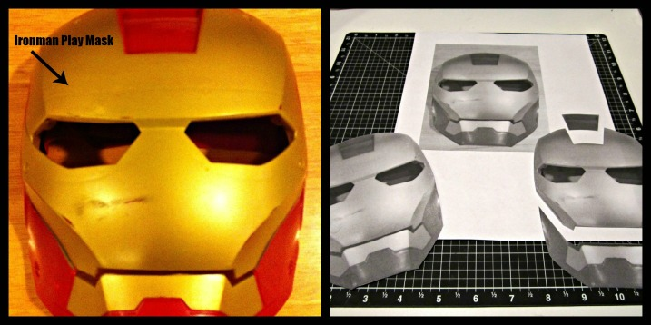 Ironman mask Collage