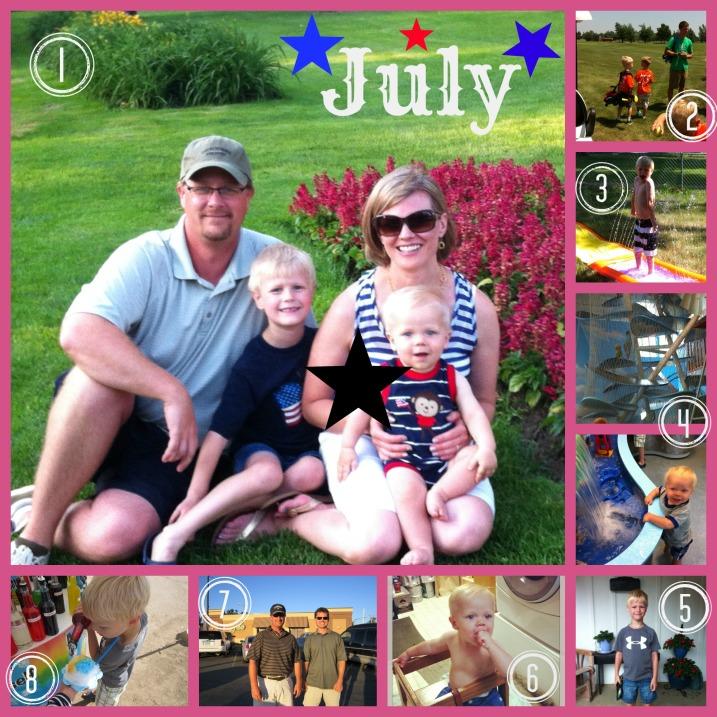 July Tidbits Collage