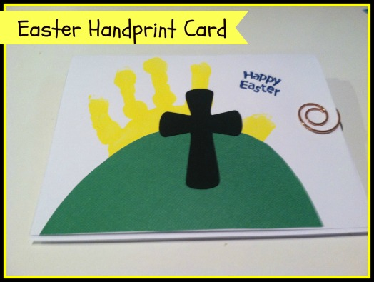 Easter Handprint Card