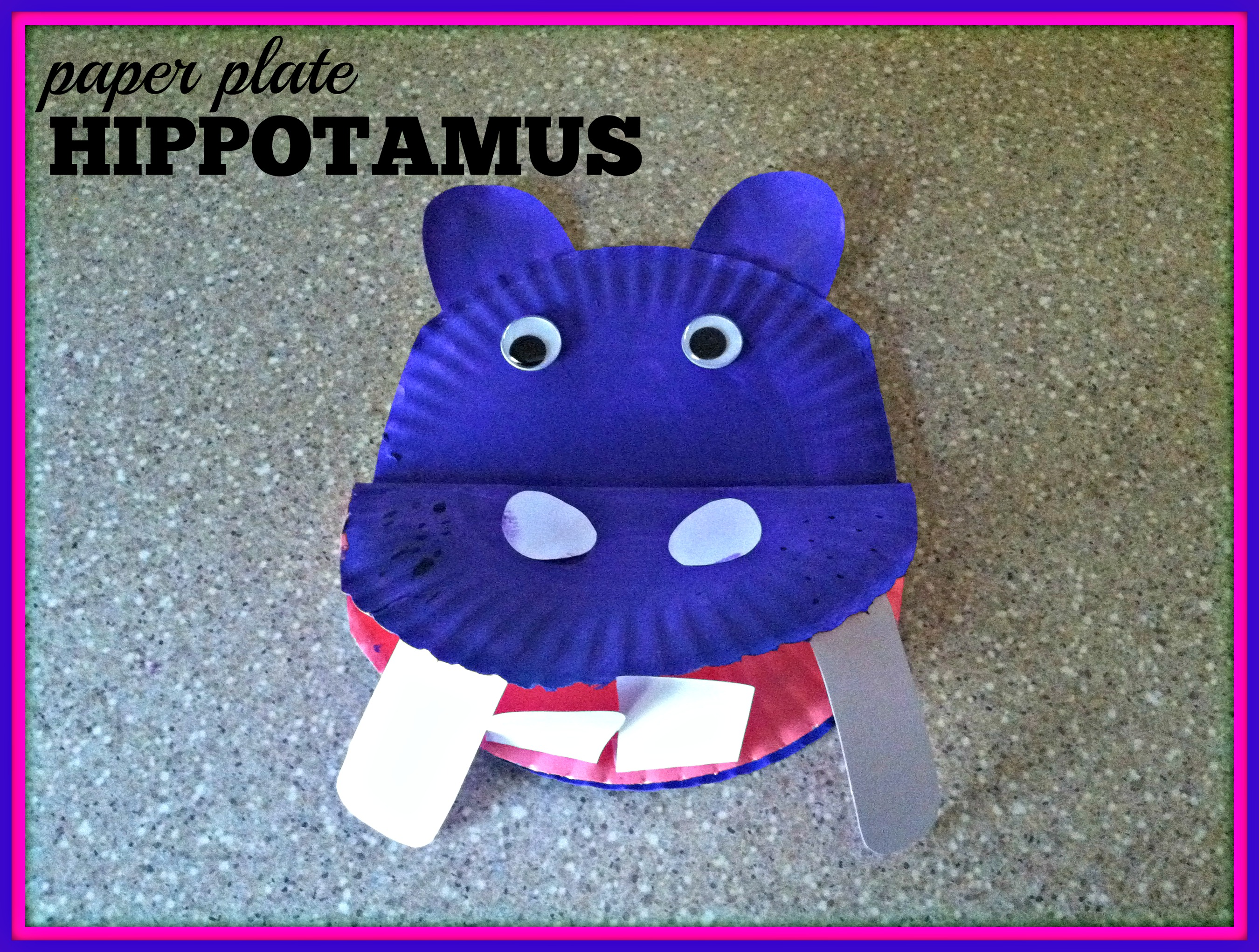 paper plate hippo & paper plates | Tidbit Times