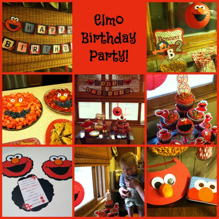 Elmo Birthday Collage