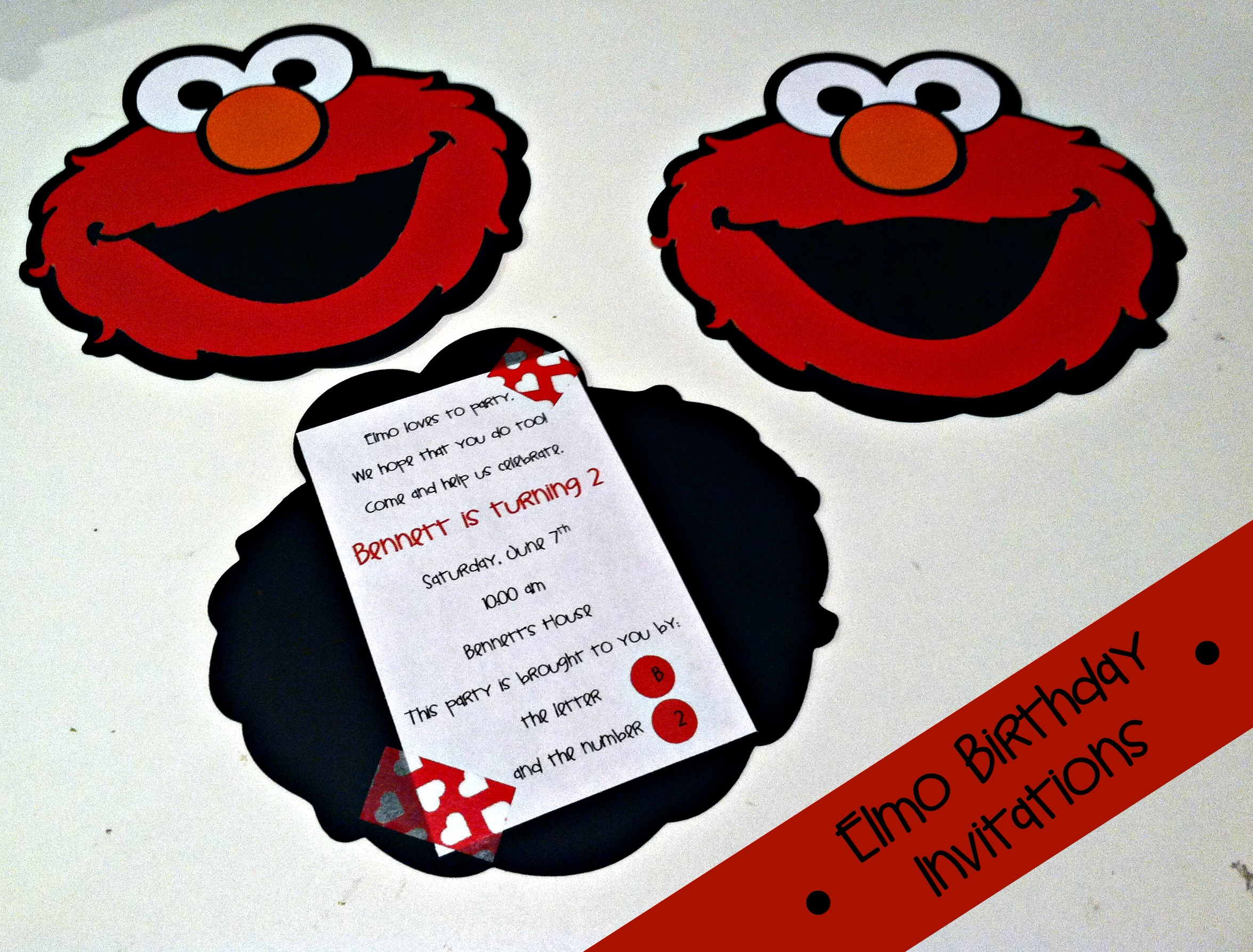 Elmo Birthday Invitations 001 | Tidbit Times