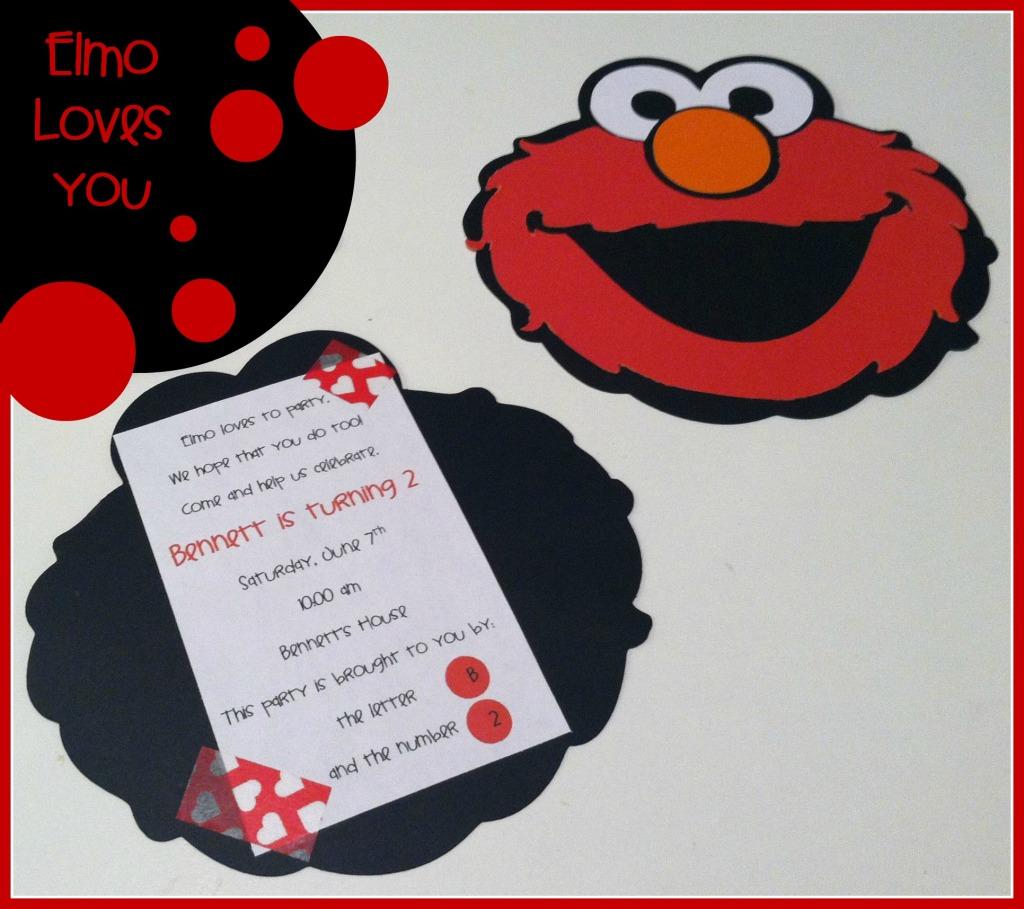 Elmo Birthday Party ~ Part 1 ~ Invitations   Tidbit Times